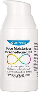 DrFormulas Best Face Moisturizer for Acne Scar Treatment   Oily Acne Prone Skin with Hyaluronic Acid, Vitamin C, Aloe Vera...