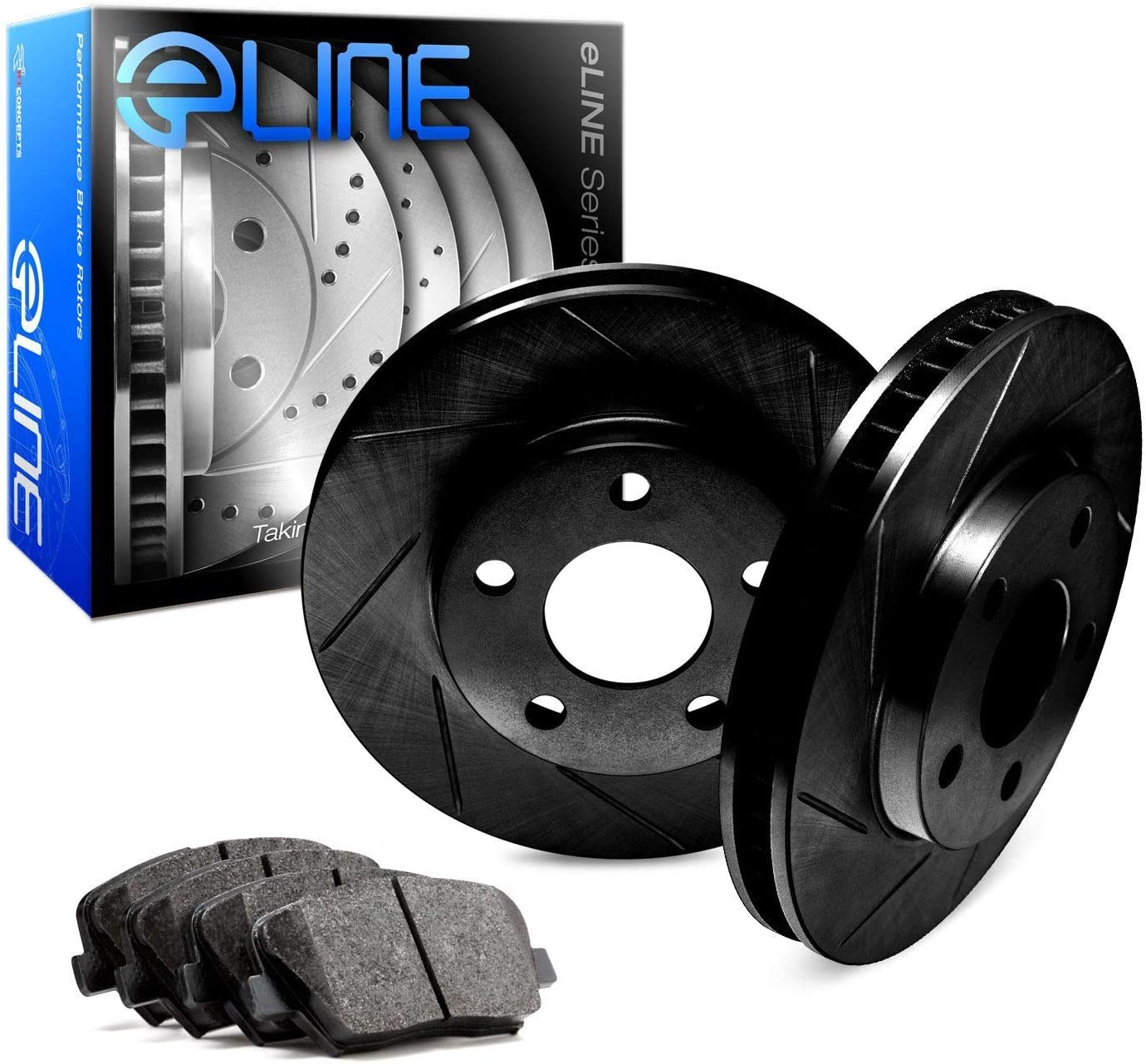 Free shipping / New For 2000 List price Ford F-150 Front R1 Brake Black Slotted Concepts eLine