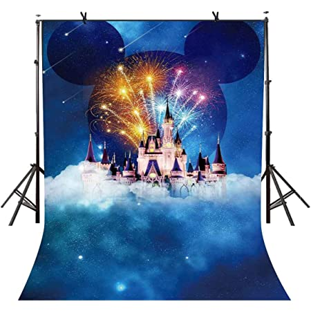 Cartoon Castle in Sea for Children Photography Backdrops Photo Props Studio Background 5x7ft