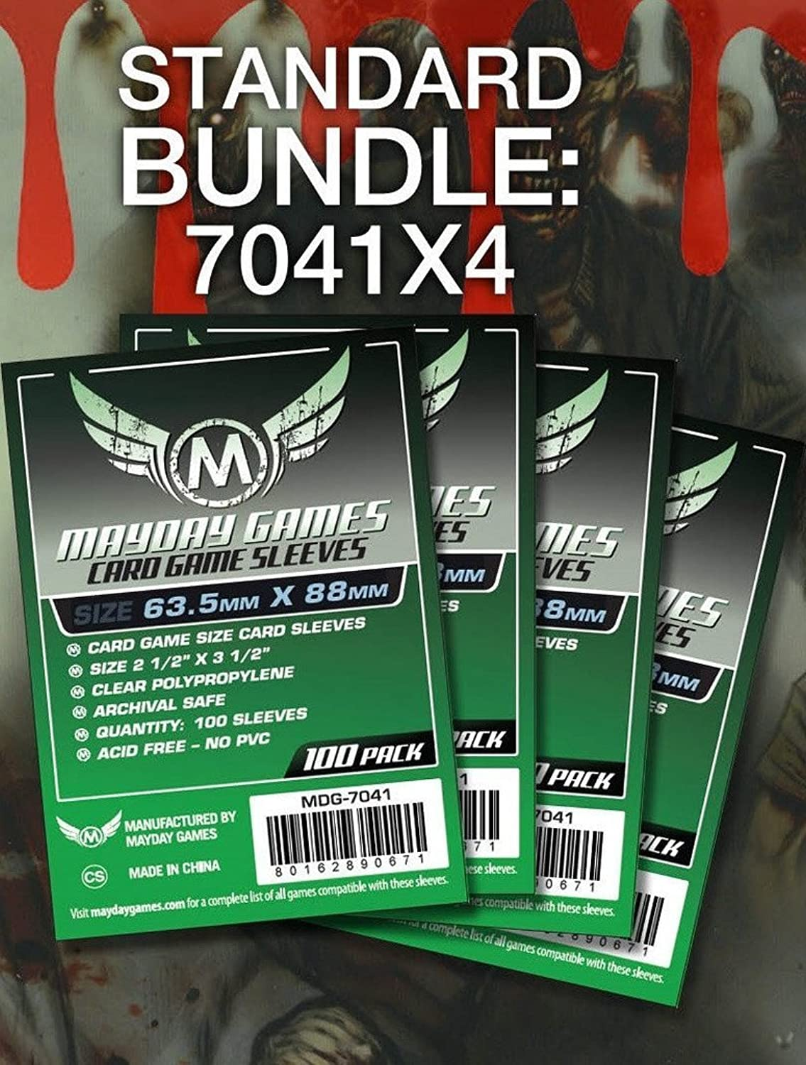 Mayday Game Card Sleeves 2 1 2 X 3 1 2 (4x100 Pack, 400 sleeves) by Mayday Games