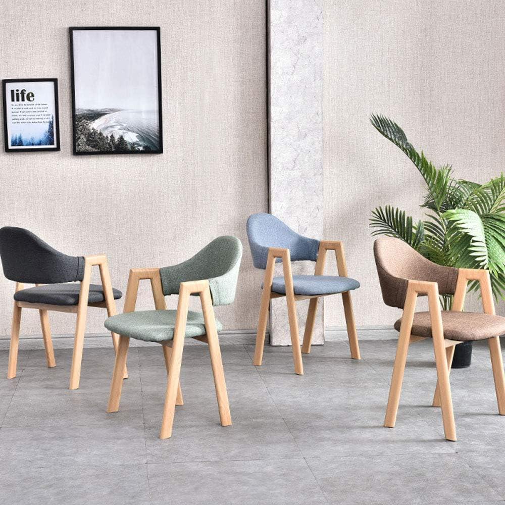 KST Chaise de Salle à Manger intérieure, Chaise latérale en Tissu avec Pieds en métal, Facile à déplacer et à Assembler, adaptée à la Maison, au café, à l'hôtel C