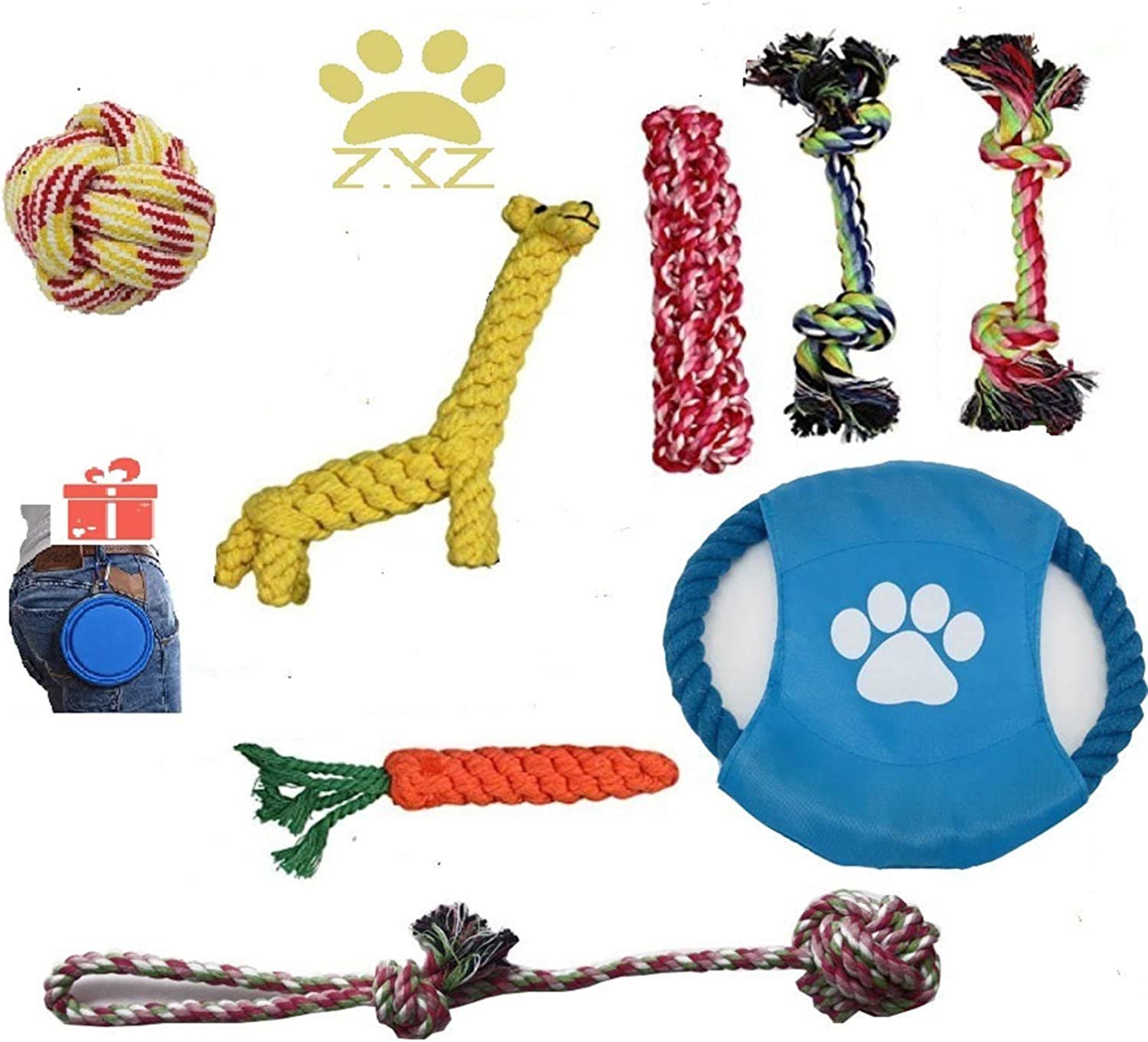 Zyz Dog Rope Toys For Aggressive Chewers Set Of Of Of 8
