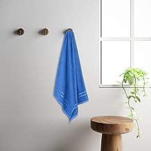 WELSPUN Quick Dry Navy Blue Cotton Standard Bath Towel
