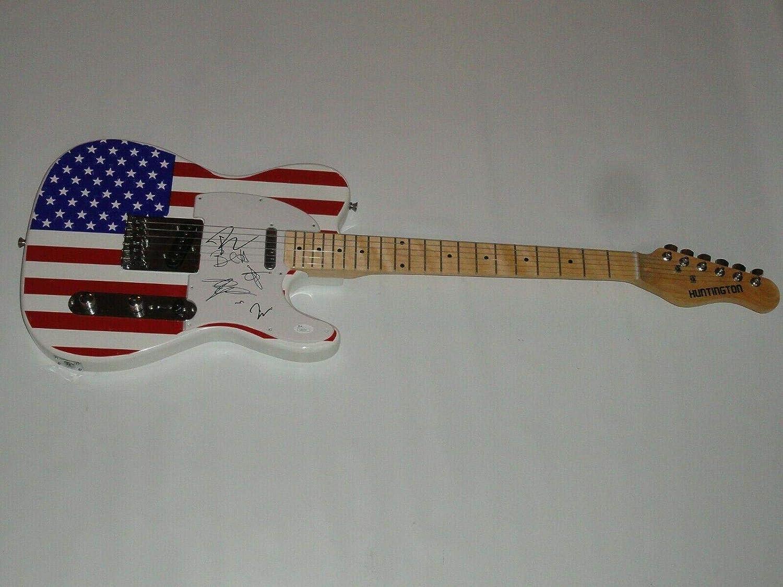 Deluxe Oakland Mall Blues Traveler Signed Usa Flag Electric John All Guitar Popper 5
