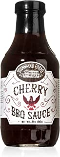 Cherry BBQ Sauce - Brownwood Farms - 20 oz, single pack - Sweet & Tangy Flavors - Gluten Free Barbecue Spread for Meats, Veggies & Other Foods