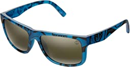 Twin Fin Blue/Melanince Grey Bi-Gradient Chrome Lens