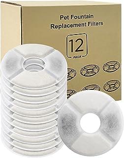Simpeak Filtre Fontaine Eau Chat, 12pcs Filtres de Remplacement de Fontaine pour Chat Chien, Filtres de Rechange avec Char...