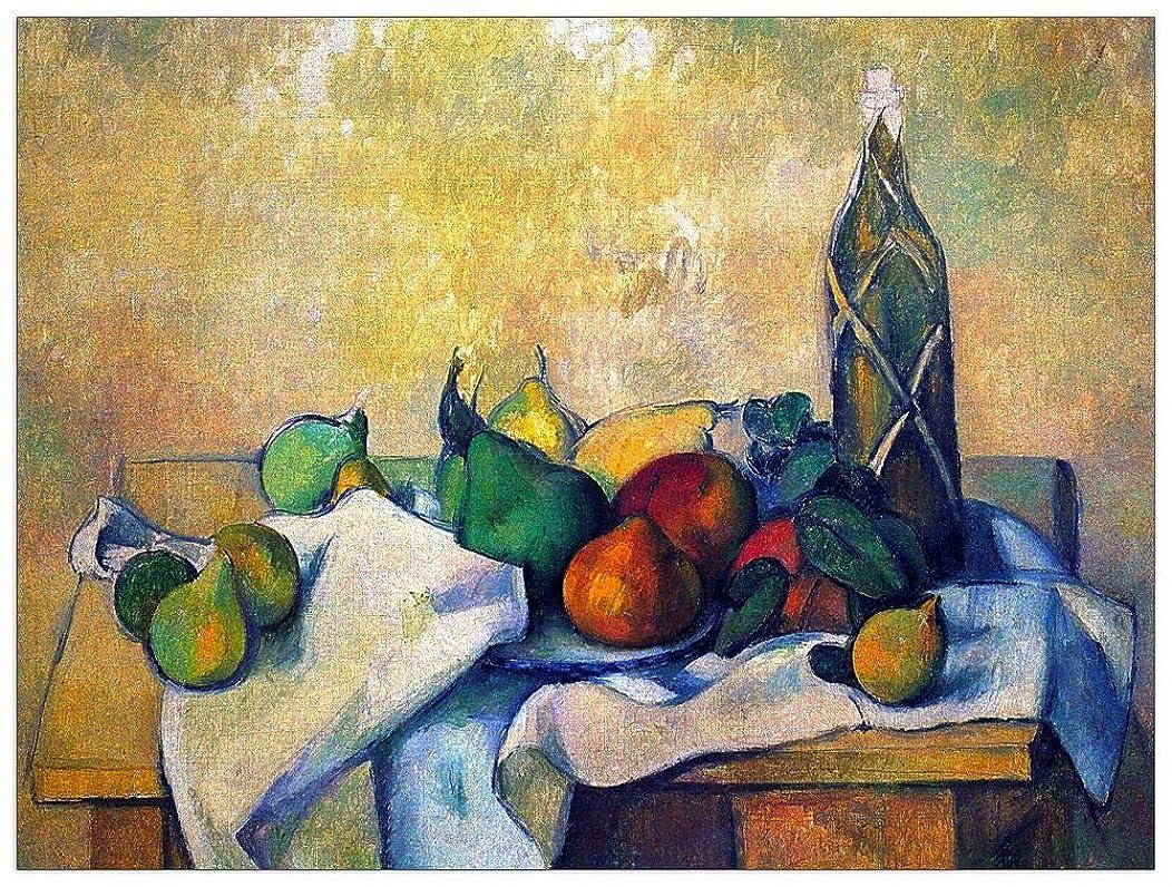 ArtPlaza TW92192 Cezanne Paul - Still Life, Rum Decorative Panel 35.5x27.5 Inch Multicolored