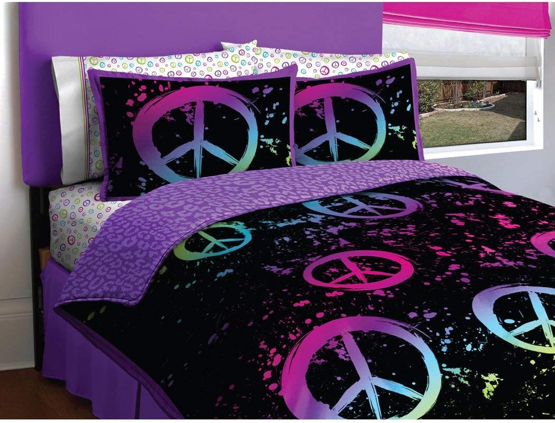 Latitude Peace Bag Teen Bedding, Full, Multi