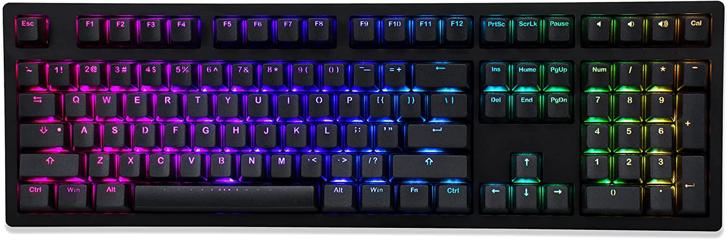 Sacramento Mall iKBC MF108 v3 RGB Sales of SALE items from new works LED Backlit Keyboard Cherry with Mechanical MX