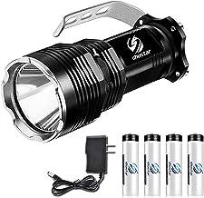 Bright Long-Range LED Searchlight Flashlight 5 Verlichtingsmodi Waterdichte aluminiumlegering Geschikt voor avontuur (Emit...