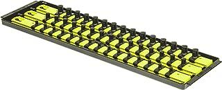 Ernst Manufacturing 8460HV Socket Boss 3-Rail Multi-Drive Socket Organizer, 19-Inch, High-Visibility