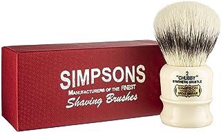 Chubby Shaving Brush- Simpson Shaving Brushes - Faux Ivory Handle (Chubby 2 Synthetic)