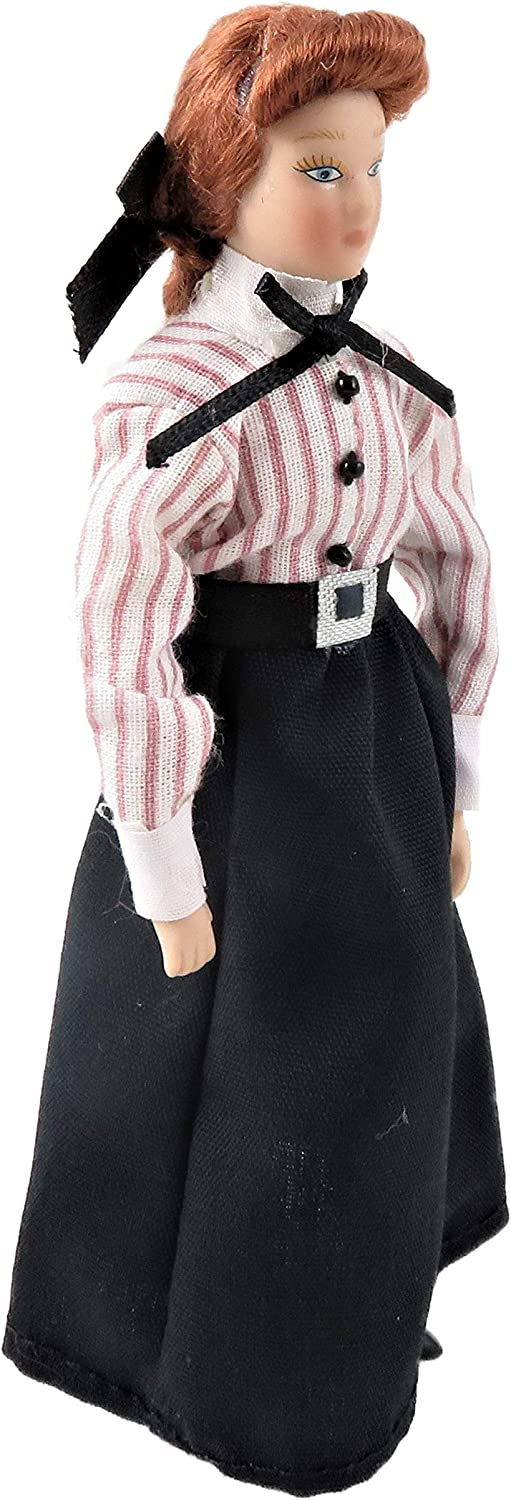 Melody Jane Dolls House Victorian Governess Woman Lady Shop Assistant Porcelain 1:12 People