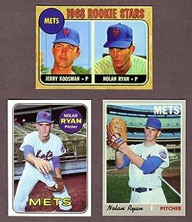 Nolan Ryan (3) Card Topps Baseball Reprint Lot w/Original Backs including 1968 Rookie Card, 1969 and 1970** (New York Mets) (Texas Rangers) (Houston Astros) (California Angels) (Los Angeles)