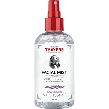 THAYERS Alcohol-Free Witch Hazel Facial Mist Toner, Clear, Lavender, 8 Fl Oz