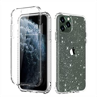 Casetego Compatible iPhone 11 Pro Max Case,360 Full Body Dual Layer Slim Crystal Transparent Case with Built-in Screen Protector for Apple iPhone 11 Pro Max 6.5 inch,Glitter Crystal