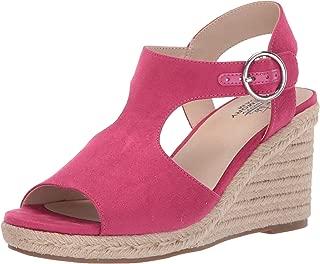 fuchsia wedge sandals