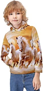 Kid's Novelty Sweater Milk Cow Painting Hoodie Teen's Long Sleeve Sportswear Fleece Hood Pullover-