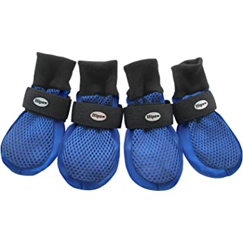 HiPaw Summer Breathable Dog Boots Nonslip Sole Paw Protector for Hardwood Floor