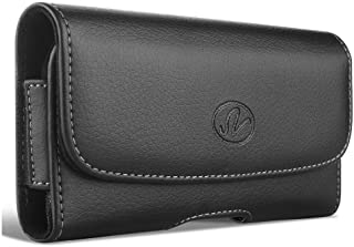 Wonderfly Horizontal Holster for Samsung Galaxy Mega 6.3/HTC One Max/Nokia Lumia 1520/LG G Flex, H078 Leather Case with Ma...