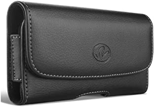 Wonderfly Horizontal Hostler XL Size Case with Belt Clip and Belt Loops Compatible with Motorola Moto G (3rd Gen) Phone wi...