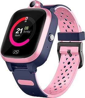 Efolen Reloj inteligente 4G para niños ? Smartwatch con GPS WiFi LBS Tracker posición en tiempo real HD pantalla táctil SOS videollamada resistente al agua, compatible con Android e iOS para niños niñas (rosa)