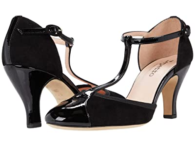 Repetto Baya (Black Patent/Suede) High Heels