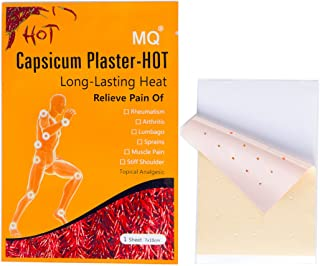 MQ Capsicum Plaster Pain Relieving Hot Patch,Joint pain killer, 7 * 10CM/sheet (30)