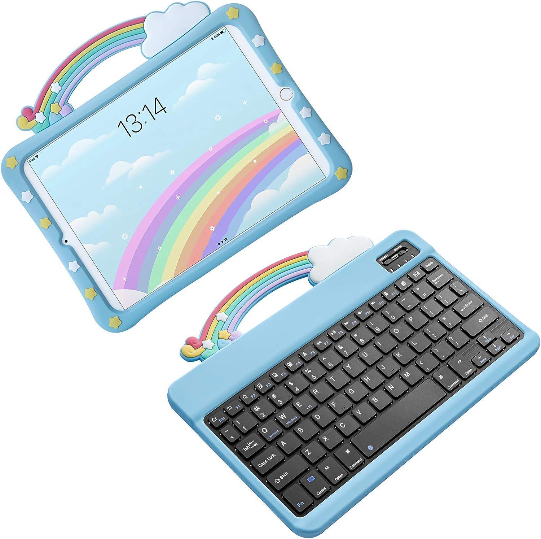 HaoHZ Funda para iPad Air 3 10.5 / Pro 10.5 con Teclado ...