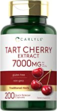 Tart Cherry Capsules   7000 mg   200 Pills   Max Potency   Non-GMO, Gluten Free   Tart Cherry Juice Extract   by Carlyle