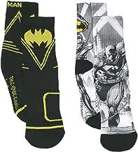 DC Comics Boy's Batman Boys' 2-Pack Crew Socks