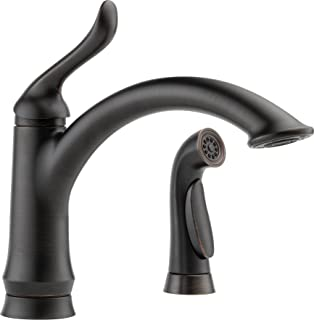 Delta Faucet Linden Single-Handle Kitchen Sink Faucet with Side Sprayer in Matching Finish, Venetian Bronze 4453-RB-DST