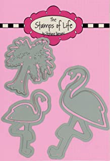 Flamingo Die Cuts for Card-Making and Scrapbooking Supplies and DIY Crafts by The Stamps of Life - Animal Bird Die Set