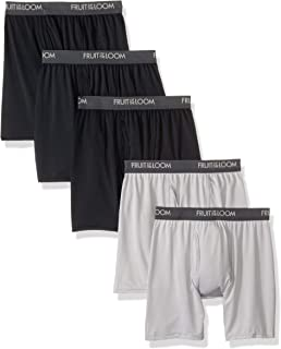 Fruit of the Loom Mens Micro-Stretch Boxer Briefs Boxer Briefs - Multi