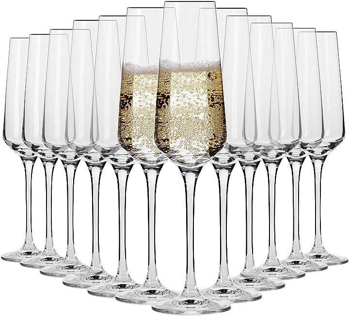 Flute champagne spumante vetro   set di 12   180 ml krosno B07PG5BVPJ