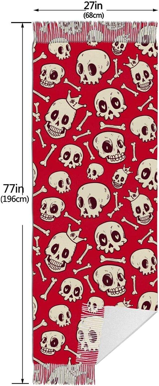 Cute Skull Cashmere Feel Scarf Lightweight Soft Scarfs For Boys Girls Creative Warm Cold Weather Blanket Scarf