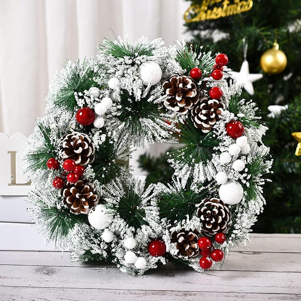 Valcatch Christmas Wreath LED Chris Sale item Artificial Door Max 44% OFF Merry