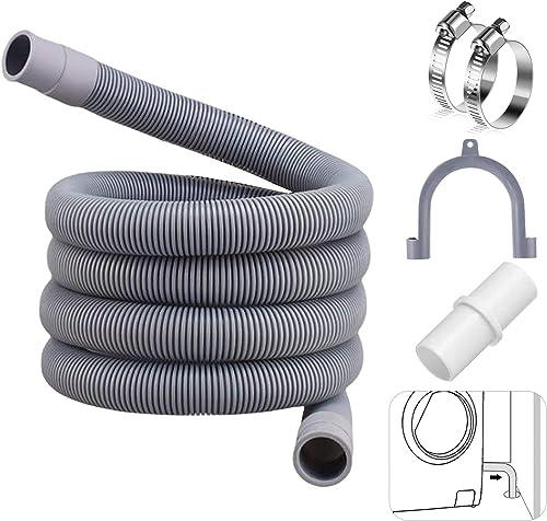 2m Flexible d'évacuation universel,rallonge de tuyau pour lave-vaisselle,Tuyau de vidange pour machine à laver,Tuyau ...