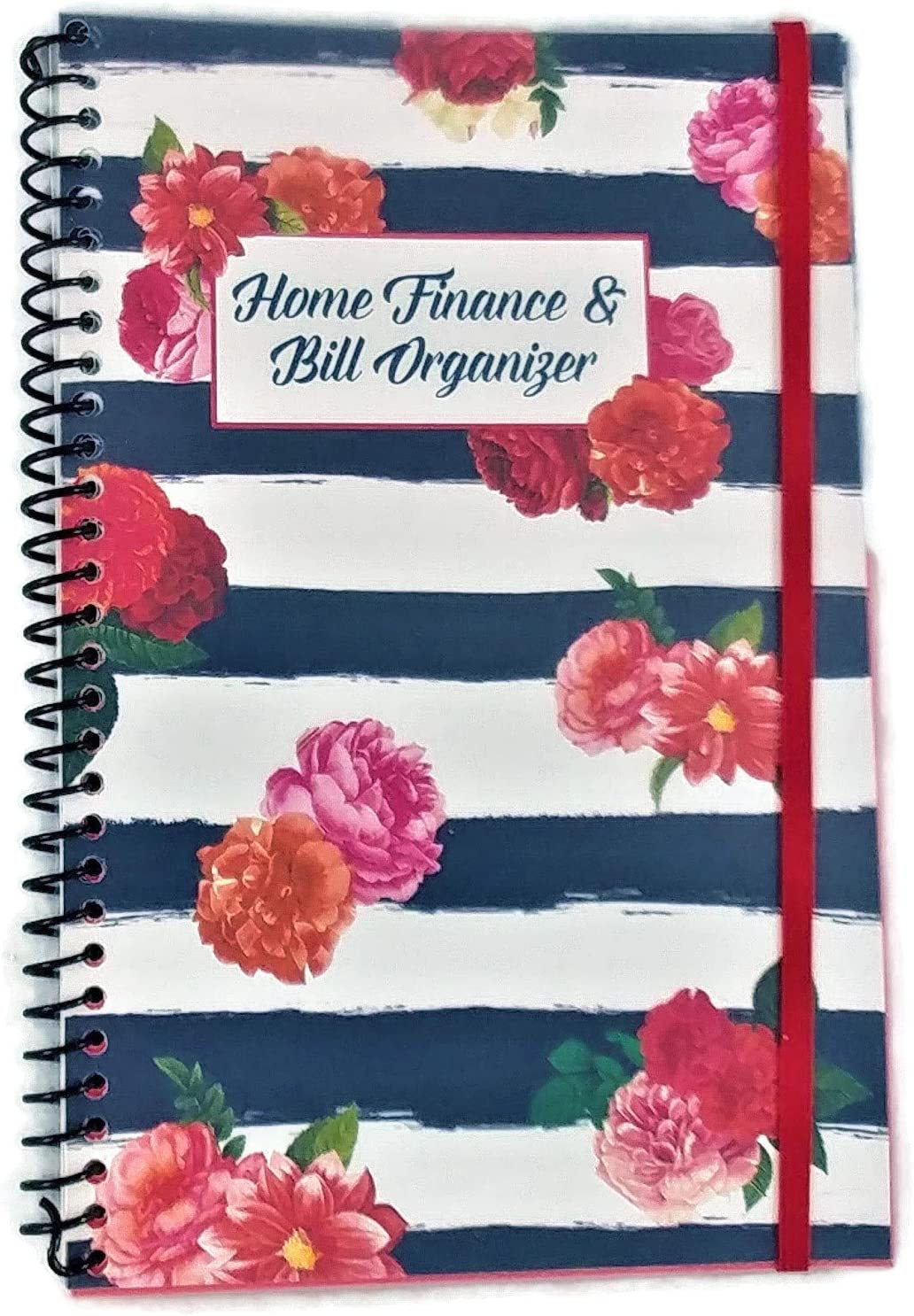 Home Finance Bill Recommendation Spasm price Organizer with Pai on Flowers Black Pockets