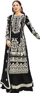 فستان نسائي أسود للحفلات من القطن الخالص طويل مستقيم سلوار للنساء مسلم هيج باكستاني فستان 6093