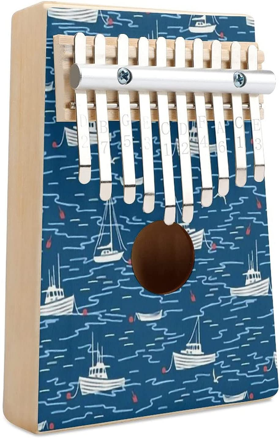 Harbor Award-winning store Boats Navy Blue White Red Kalimba Thumb Scale Piano Small Credence