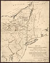 1791 map of The Middle States of North America with Part of Canada shewing The Situation of The Principal Towns, viz. Columbia i.e. Washington, D.C, Baltimore, Philadelphia, New York, Newport, Rhode