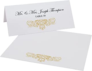 Documents and Designs Vintage Frame Place Cards, Gold, Set of 150