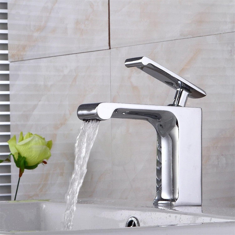 MNLMJ Moderne einfache kupferne heie und kalte Wasserhhne KüchenarmaturKupfer verGoldet RoséGold antike ORB gebürstetem Wasserfall Einlochmontage-Becken Wasserhahn Geeignet für alle Badezimmer-