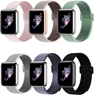 BEA FASHION Sport Bands Compatible with Apple Watch Band 38mm 42mm Soft Breathable Woven Nylon Replacement Band Sport Loop for Apple Watch Series 3 Series 2 Series 1