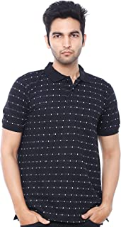 EASY 2 WEAR ® Mens Print Collar T-Shirt (Size S to 5XL)