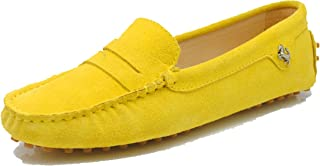 MINITOO Femme Loafers & Mocassins Suede Chaussure Conduite YB9603