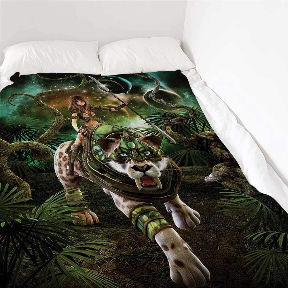Throw Blanket Fantasy World Air Tiger Conditioni 実物 保証 Galaxy