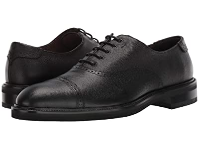 Salvatore Ferragamo Toby Cap Toe Oxford (Black) Men